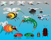"""Selection of Charax """"Bugs"""" by M. Scott Hull, via Behance"""
