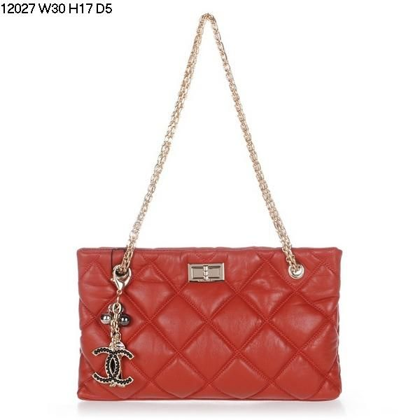Chanel Flap Bag Lambskin Watermelon Red Gold Chain