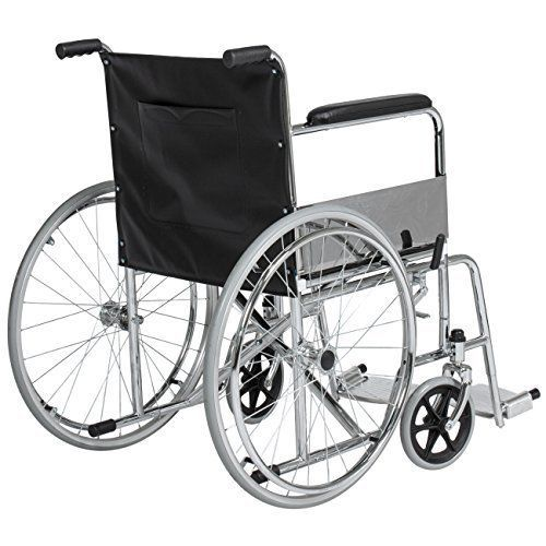 "24"" Lightweight Folding Wheelchair Swing Away Footrest Transport Medical Seat  #HealthIdeas"