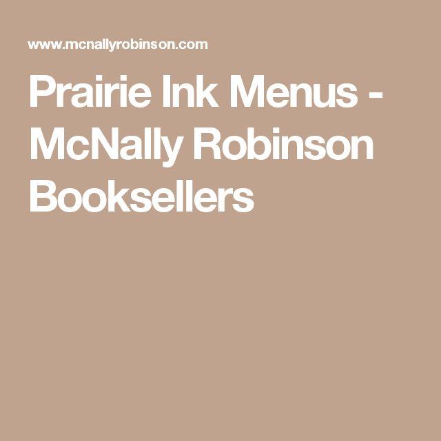 Prairie Ink Menus - McNally Robinson Booksellers