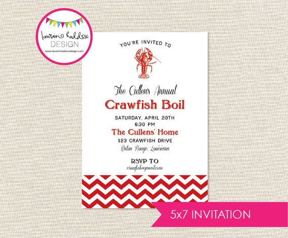 9 best Crawfish Boil images on Pinterest Crawfish party, Invites - best of invitation party card