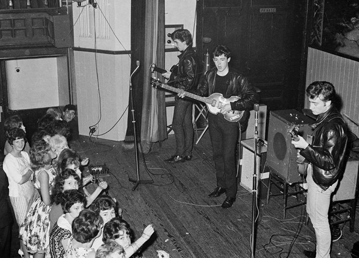 27th January 1962 - the band played their last gig at the Aintree Institute. According to Mark Lewisohn, Brian Epstein was paid The Beatles' £15 fee in loose change - he made sure they never played for promotor Brian Kelly again. Photo by Dick Matthews/ © Apple Corps