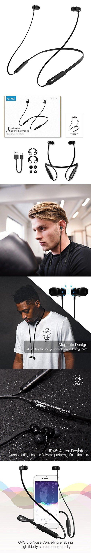Wireless Headphones, Otium X6 Neckband Best Bluetooth Headphones Lightweight Earbuds In-Ear Earphones Sports Headsets Magnetic Earbuds (Bluetooth 4.2, Noise Cancelling, Sweatproof, 9 Hours Playtime)