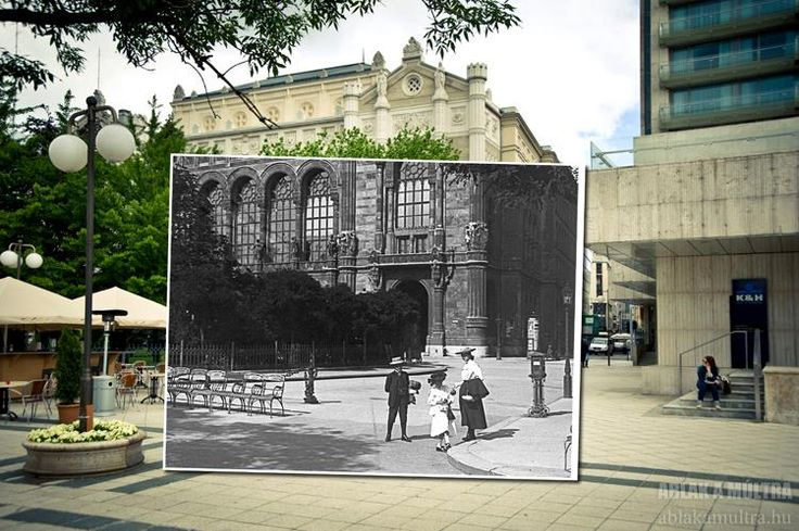 Budapest | Window to the past  Budapest Vigadó Concert Hall ~1902 - 2013 credit: Ablak a múltra / Window to the past. view on Fb https://www.facebook.com/BudapestPocketGuide #budapest #travel #thenandnow