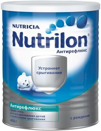 Nutrilon (Nutricia) Антирефлюкс (с рождения) 400 г  — 769р. ---- Молочная смесь Nutrilon Антирефлюкс с рождения 400 г. Сухая молочная смесь Nutrilon Антирефлюкс с нуклеотидами для диетического (лечебного) питания детей с рождения. Синдром срыгивания часто встречается у детей в течение первого года жизни. Причину срыгиваний должен определить специалист, однако чаще всего срыгивания являются следствием незрелости пищеварительной системы и зачастую проходят по мере роста ребенка. Однако, если у…