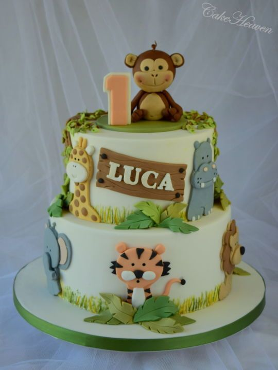 Birthday Cake Ideas Jungle Theme : 25+ best ideas about Jungle cake on Pinterest Jungle ...