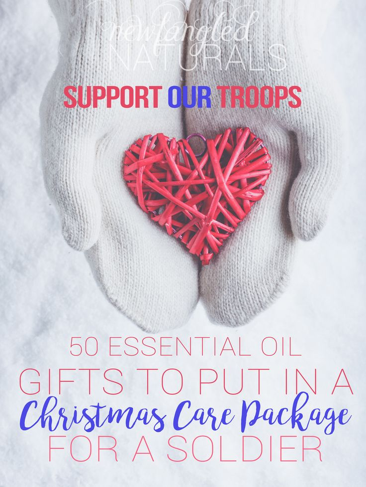 MILITARY CARE PACKAGE GIFT IDEAS- Great ideas and tips for packing a soldier's care package with essential oils and other goodies for the holidays!