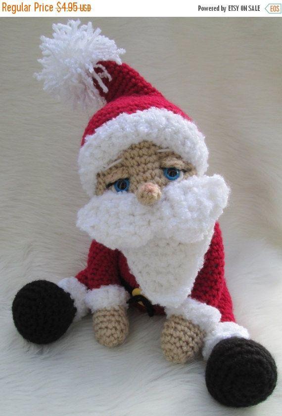 JULY SALE Crochet Pattern Santa Doll by Teri Crews instant download PDF format Crochet Toy Pattern