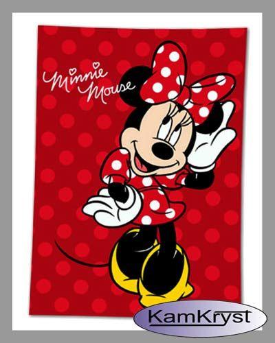 Minnie Mouse blanket size 100x140 - blankets in the shop Kamkryst | Koc Myszka Minnie w rozmiarze 100x140 - kocyki w sklepie Kamkryst