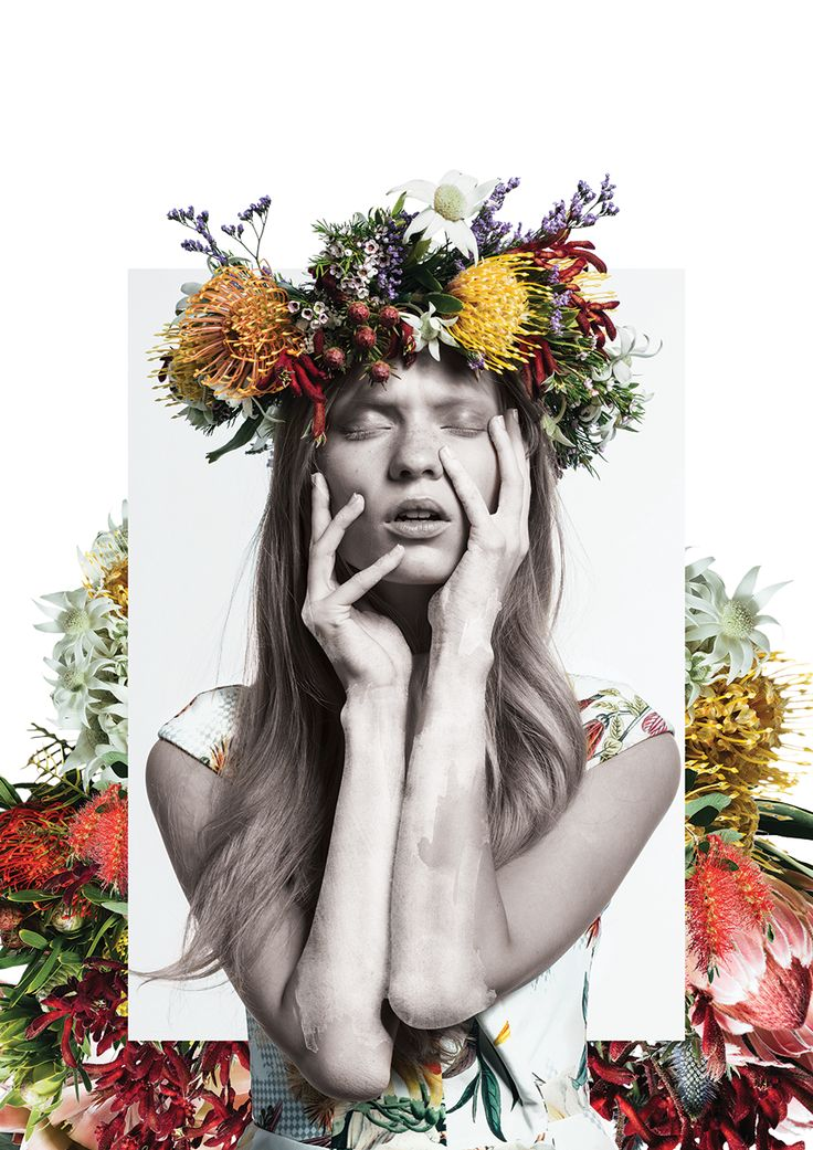 the most beautiful collages with paint and flowers