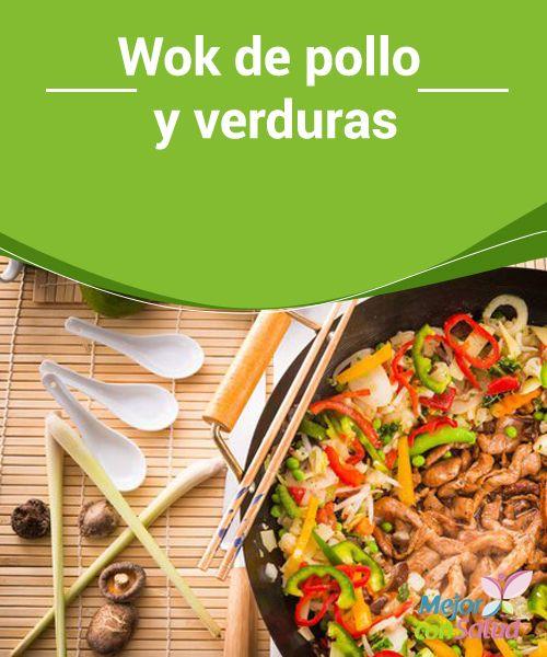 Wok de pollo y verduras  Con lo mal que solemos ir de tiempo en ocasiones es una bendición aprender a hacer recetas de manera rápida y deliciosa. El wok de pollo y verduras es una de estas opciones, te enseñamos a prepararla.