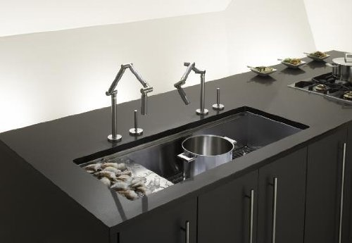 Plumbing Interesting Oversized Under Mount Sink By Kohler K 3761 Stages 45 Stainless Steel Kitchen Steelthe L