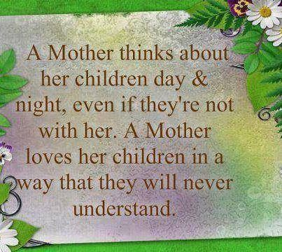 Yep I do this. Though I think they do and will know as they have children and their children grow. It's a circle of love.