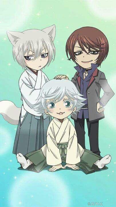 Chibi Tomoe, Mizuki, and Kurama