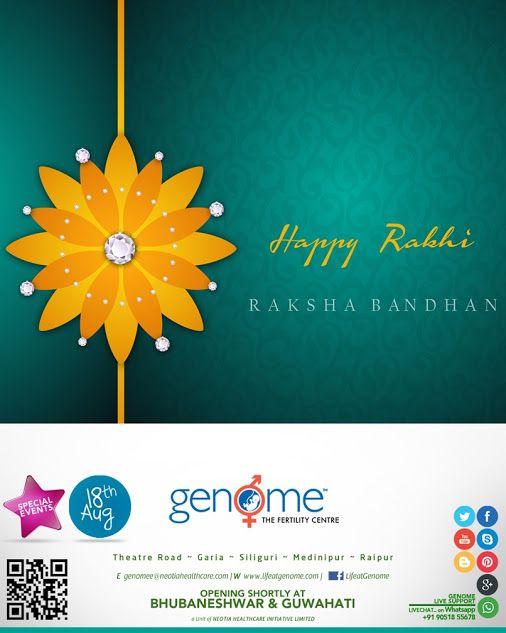GENOME Celebrating the sweetness of sibling bond! Wishing you Happy Raksha Bandhan