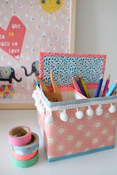 Schreibtisch-Organizer aus Milchtüten von Hey Hanse auf HandmadeKultur