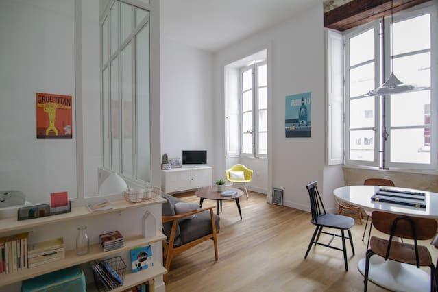 Little Pommeraye : un appartement à louer au coeur de Nantes, très joliment aménagé et à prix doux.