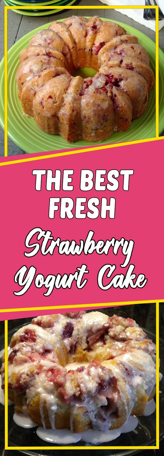 The best Fresh Strawberry Yogurt Cake #dessert #easyrecipes #recipeoftheday #dessertrecipes #desserttable #appetizer