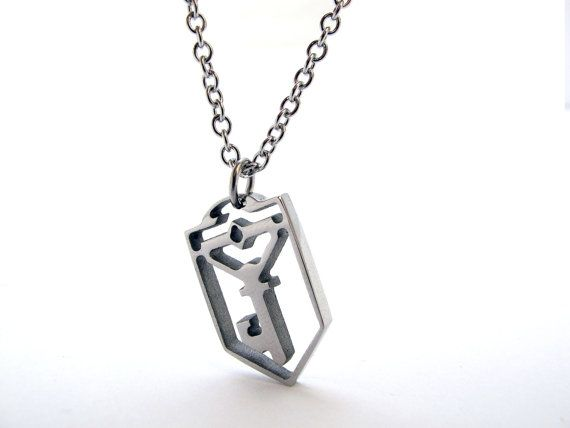 Hey, I found this really awesome Etsy listing at https://www.etsy.com/listing/194549765/ingress-resistance-key-symbol-necklace