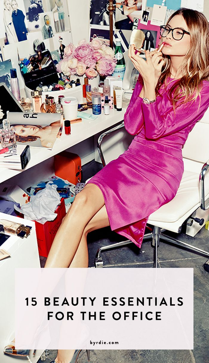 A checklist of the essential beauty products to keep at your desk #beauty #makeup #dollface