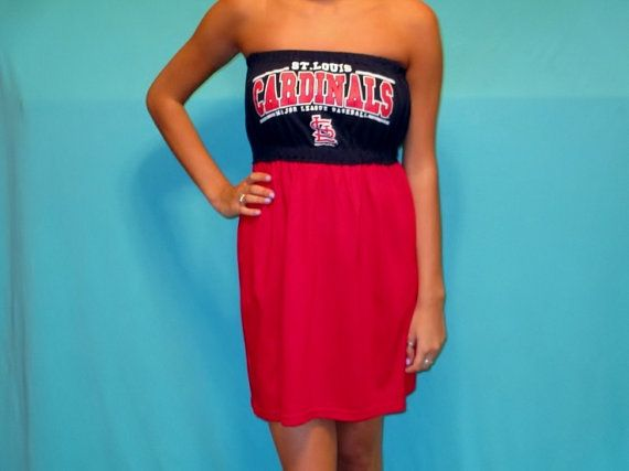 St Louis Cardinals Game Day Dress by LoveMyGameDress on Etsy, $45.00
