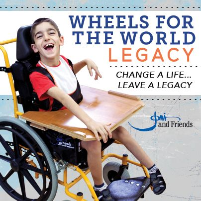 This summer, Joni and Friends is inviting you to build a WHEELS FOR THE WORLD LEGACY with us. Our goal is to send 3,500 pediatric wheelchairs to children ─ and we need your help! A wheelchair enables a child to go to school, attend church, and become an active part of their community. It changes lives!