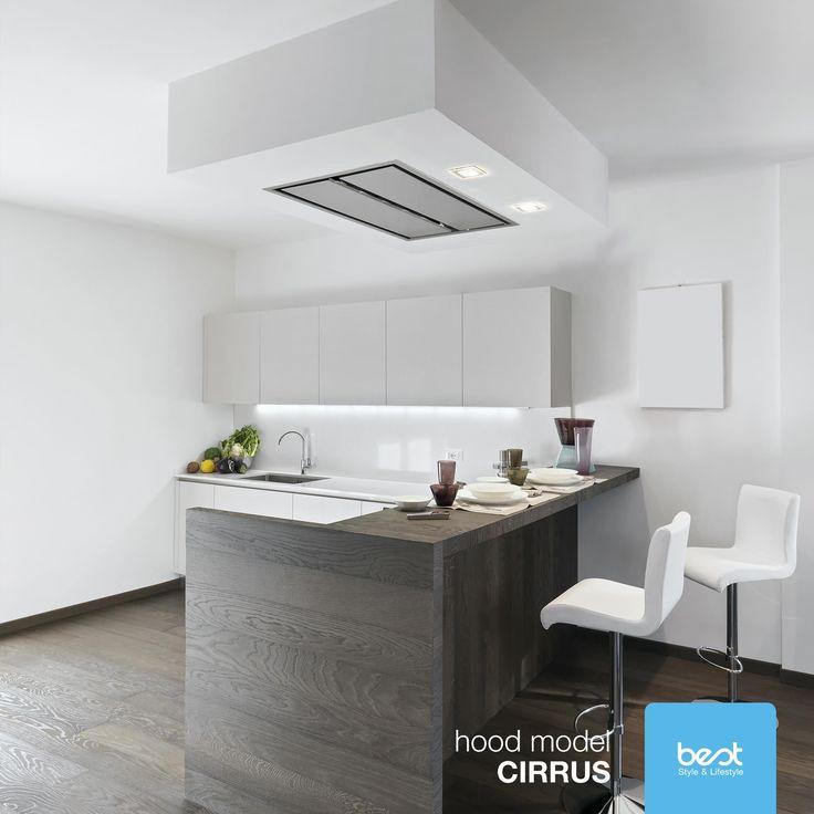Okap #Best #Cirrus to wysoka wydajność i niskie zużycie energii. Nie kradnie przestrzeni a za pomocą zdalnego sterowania uruchamia wszystkie swoje funkcje. Foto: Best