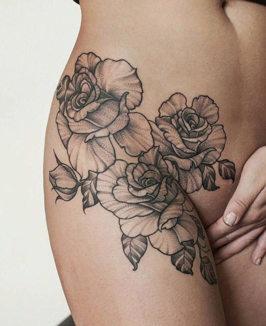 #flowers #roses #tattoo