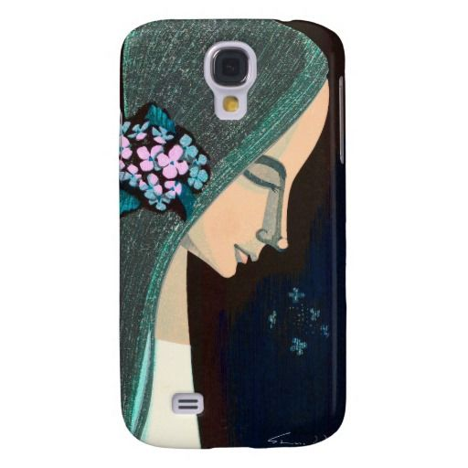 Flower Ornament oriental japanase kawaii girl art Galaxy S4 Cases