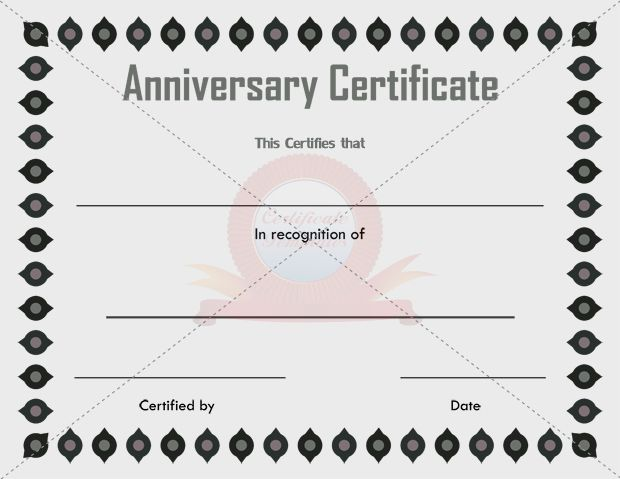 the amount of information found on an anniversary certificate varies based on exactly what is being documented for a wedding anniversary the original date