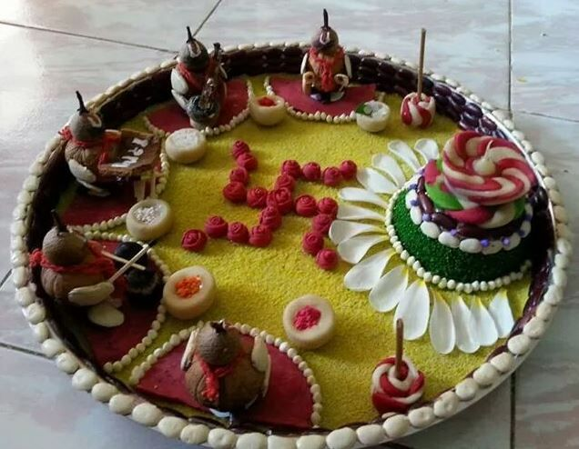 Pinterest the world s catalog of ideas for Aarti thali decoration with clay