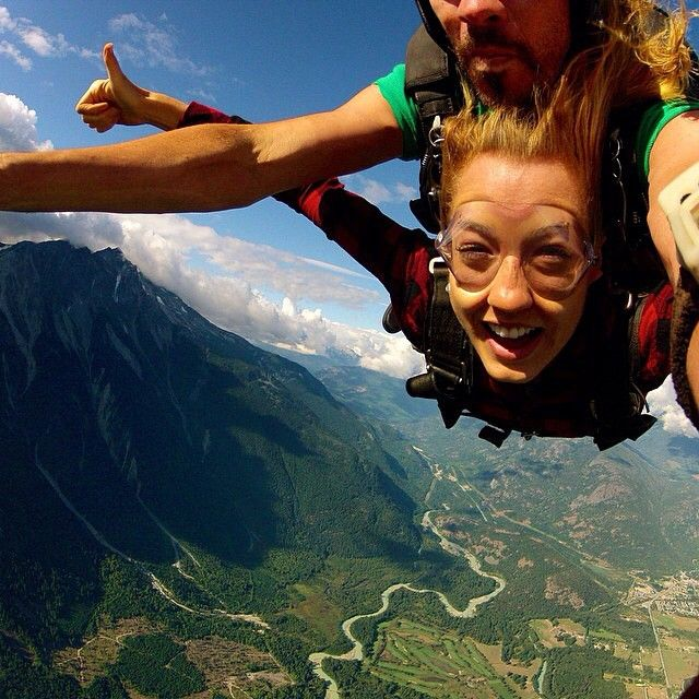 Skydiving in Pemberton (north of #Whistler). Great shot by @ whitneylindskog! #exploreBC #exploreCanada hellobc.com