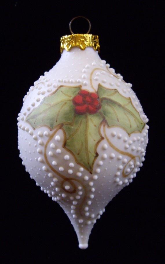 Beautiful handmade ornament! Unique Ornament  2011 Holly Handmade Ornament by RobinHarley64, $14.50