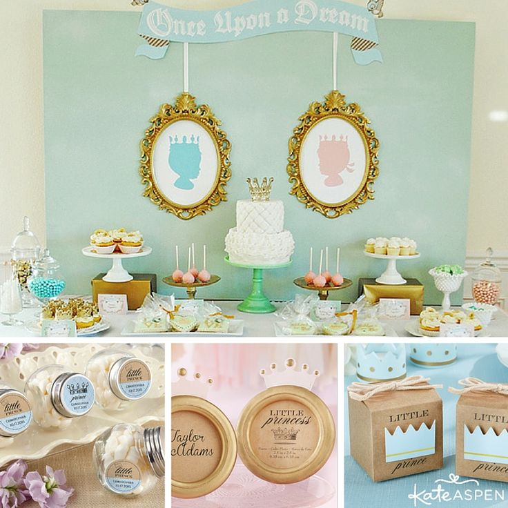 A little royal is on the way! But is it a little prince or a little princess? A prince or princess gender reveal party is an adorable way to celebrate your regal announcement. | kateaspen.com