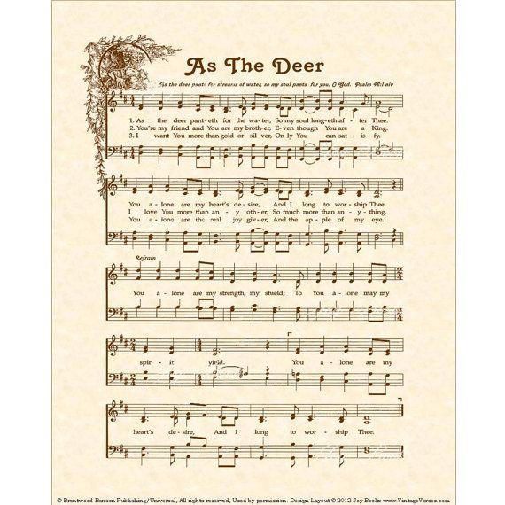 AS THE DEER - Hymn Art - Custom Christian Home Decor ...