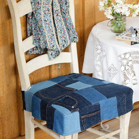Super 78 best Denim Jean furniture! images on Pinterest | Denim crafts  QO92