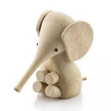 Wooden Baby Elephant by Lucie Kaas, Baby Nursery Decor, Scandinavian Design, Baby Gift