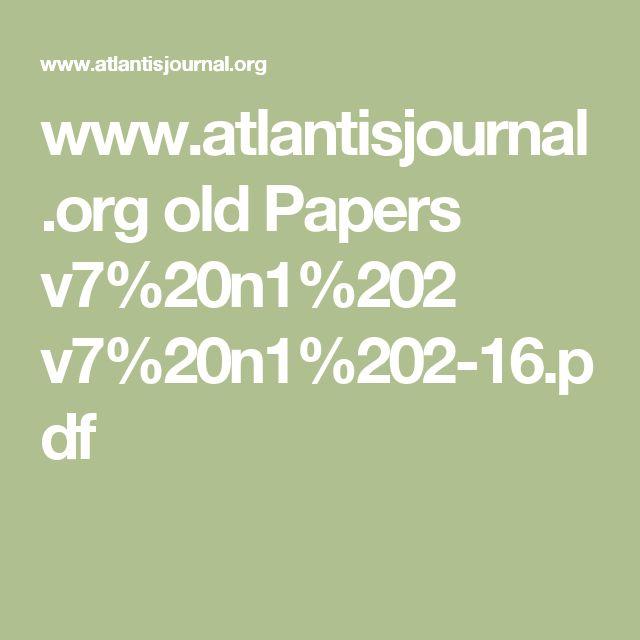 www.atlantisjournal.org old Papers v7%20n1%202 v7%20n1%202-16.pdf