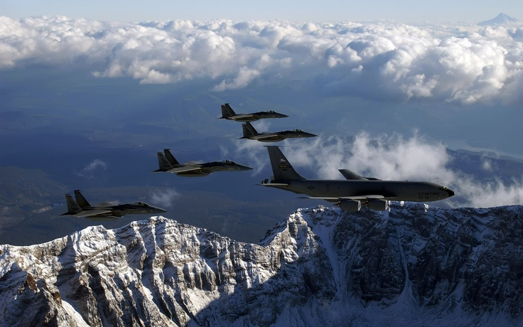 U.S Air Force! <3: Fighter Aircraft, F15S Refuel, Kc 135 Stratotank, Fighter Planes, F15 Eagles, Air Force, Kc135 Stratotank, Stratotank Refuel, Airplane Lovers