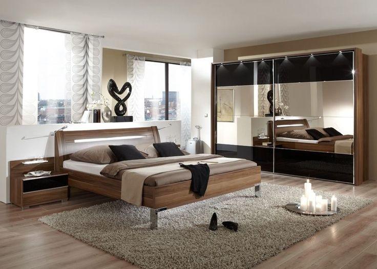 schlafzimmer komplett walnuss mit schwarzglas 5747 buy now at httpswww - Glamouros Schlafzimmer Komplettangebote Begriff