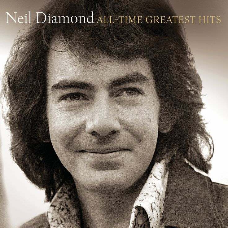 "Photographer: Alec Byrne. The 2014 compilation All-Time Greatest Hits brings together all of Neil Diamond's best-loved hit songs. Included here are such cuts as ""Song Sung Blue,"" ""Sweet Caroline,"" ""I'"