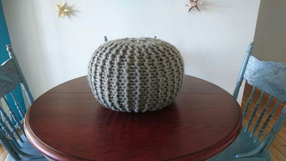 Check out this item in my Etsy shop https://www.etsy.com/se-en/listing/504510265/handmade-knitted-wool-pouf