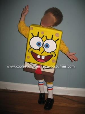 Spongebob Halloween Costume: My 3 year old son kept saying he wanted a Spongebob Halloween costume. I was hoping he would want to be something simpler, like Spiderman, or Batmam,