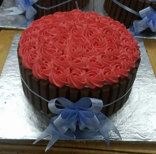 Pastel rosetones con chocolate