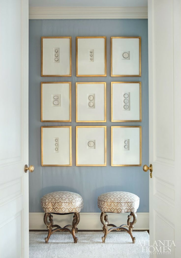 Suzanne Kasler's perfection in white and pale blue. From Atlanta Homes and Lifestyles.