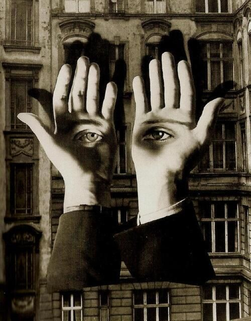 ヘルベルト・バイヤー『大都会の孤独』 (1932) Herbert Bayer - Lonely Metropolitan #シュールレアリスム