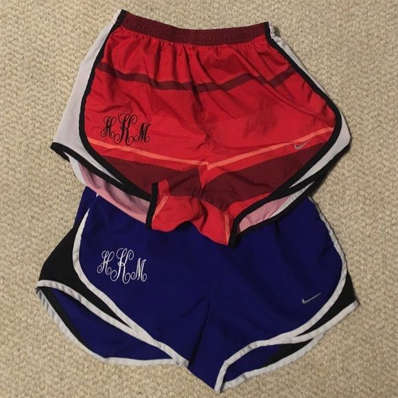 Nike shorts Woman's Nike shorts (they do have a monogram but you can get an appliqué monogram to cover) Shorts