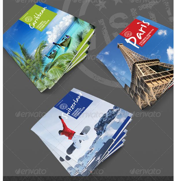 20 Best Travel Brochure Examples With Enticing Designs Images On