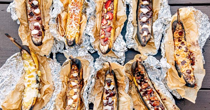 Learn how to make campfire banana boats: a classic camping dessert and beloved campfire tradition. Plus 9 creative banana boat topping combinations!