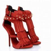 Giuseppe Zanotti African Queen Fringe sandales rouge http://www.villafeletto.com/giuseppe-zanotti-sandales